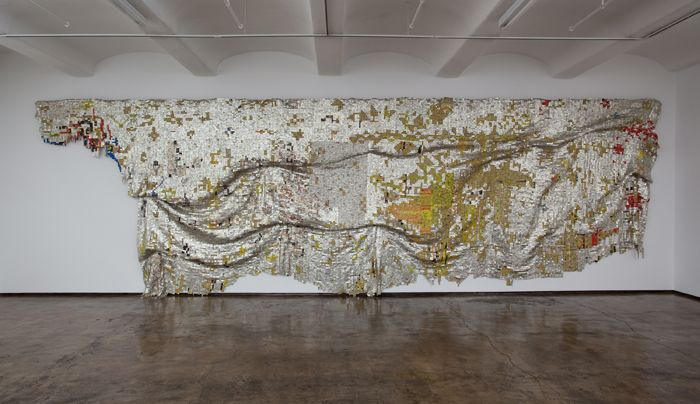 El Anatsui, Depletion, 2009, Aluminum and copper wire