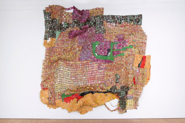 El Anatsui, Trova, 2016, aluminum and copper wire