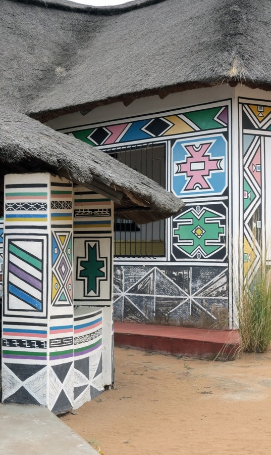 Outbuildings at Esther Mahlangu's Weltevreden, Mapumalanga home, 2015